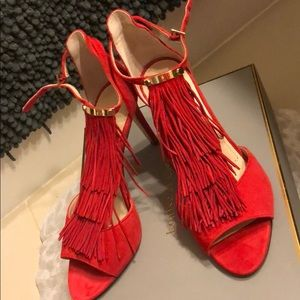 New Ruby Red kidsuede Louise et Cie from Dillards